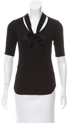 Frame V-Neck Short Sleeve Top