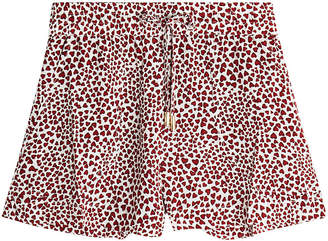 Anine Bing Printed Silk Ashley Shorts