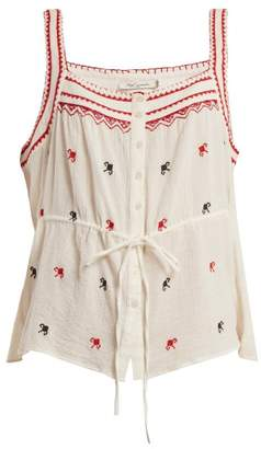 Mes Demoiselles Fairy Square Neck Cotton Top - Womens - Ivory Multi