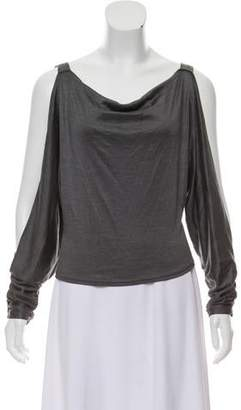 Michael Kors Cold-Shoulder Silk Top