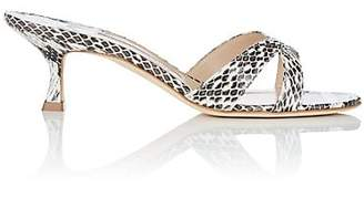 Manolo Blahnik Women's Callamu Snakeskin Sandals - Natural Snake