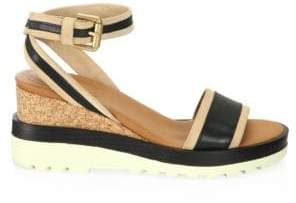 See by Chloe Robin Leather Wedge Sandals