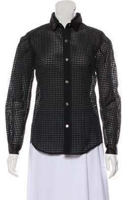 Julien David Long Sleeve Button Up Top
