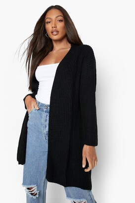 boohoo Tall Fisherman Rib Cardigan