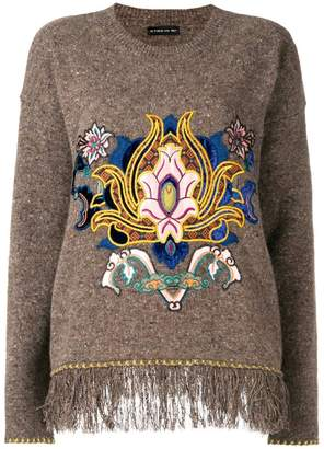 Etro embroidered fringe trim sweater