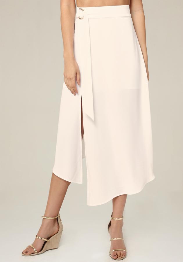 Petite Side Ring Tie Skirt