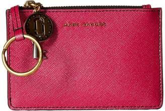 Marc Jacobs Metallic Saffiano Top Zip Multi Wallet