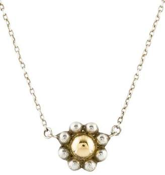 Tiffany & Co. Two-Tone Bead Flower Pendant Necklace silver Two-Tone Bead Flower Pendant Necklace