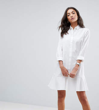 Asos Tall TALL Peplum Mini Shirt Dress