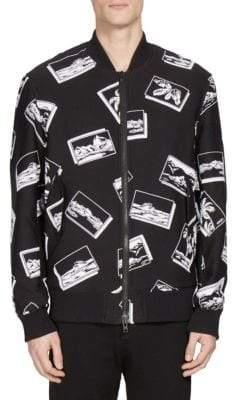 Kenzo Scenic-Print Zipped Bomber Jacket