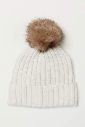 H&M Rib-knit Hat - White