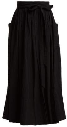 Mara Hoffman Nicola Tie Waist Organic Cotton Skirt - Womens - Black