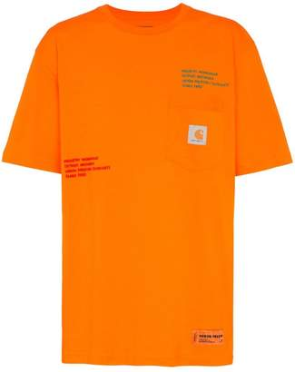 Heron Preston oversized embroidered Carhartt T-shirt