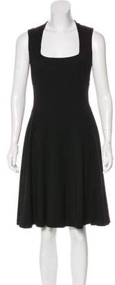 Givenchy Virgin Wool Empire Knee-Length Dress