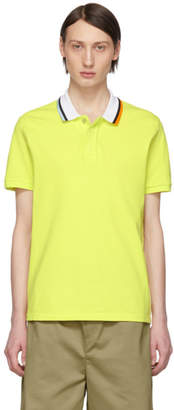 Kenzo Yellow Colorblocked Fitted Polo