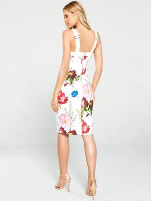 Ted Baker Amylia Berry Sundae Bodycon Dress - White