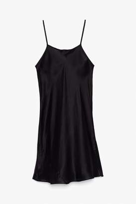 Genuine People Silk Slip Dress