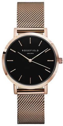 Tribeca ROSEFIELD Analog Rose Goldtone Mesh Bracelet Watch