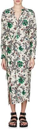 Isabel Marant WOMEN'S CALYPSO SILK CRÊPE DE CHINE WRAP DRESS