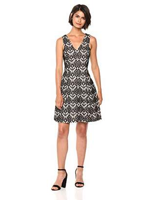 Kensie Dress Women's Bonded Scallop LACE
