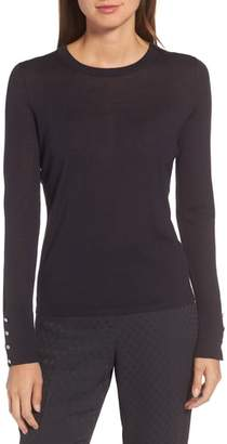 BOSS Frankie Cuff Detail Wool Sweater