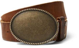 Kingsman + Jean Shop Statesman 4cm Brown Leather Western Belt