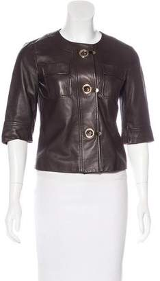 Michael Kors Lightweight Leather Jacket
