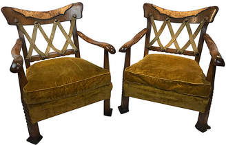 One Kings Lane Vintage Italian Art Deco Chairs - Set of 2 - Heather Cook Antiques