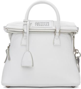 Maison Margiela White Small 5AC Bag $1,975 thestylecure.com