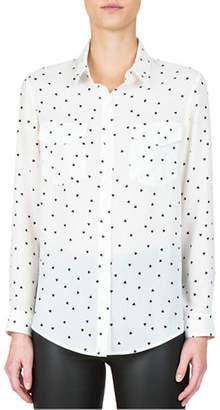 The Kooples Heart-Print Button-Down Shirt