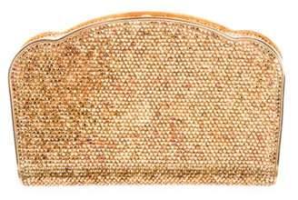 Judith Leiber Crystal-Embellished Clutch Gold Crystal-Embellished Clutch