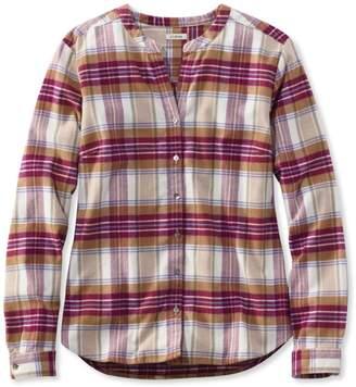 L.L. Bean L.L.Bean Splitneck Flannel Shirt, Plaid