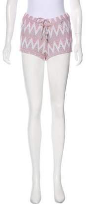 Melissa Odabash Patterned Mid-Rise Shorts