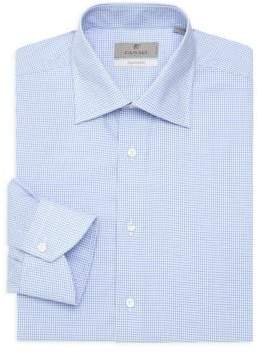 Canali Graph Check Cotton Dress Shirt