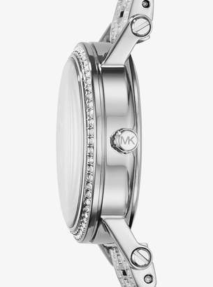 Michael Kors Petite Norie Pave Silver-Tone Watch