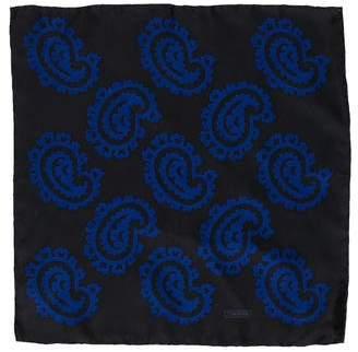 Tom Ford Silk Paisley Print Pocket Square w/ Tags