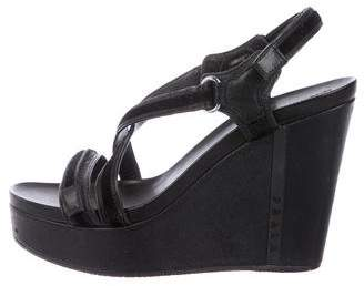 a42a0d5e16e Prada Black Platform Wedge Sandals For Women - ShopStyle Australia