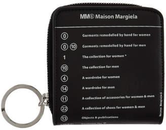 MM6 MAISON MARGIELA Black Logo Wrap Zip Wallet