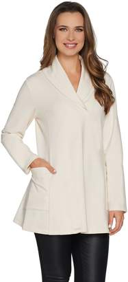 Susan Graver Weekend Brushed Back Knit Tunic