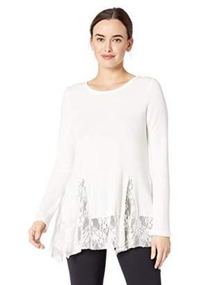 Karen Kane Women's LACE Inset Sweater