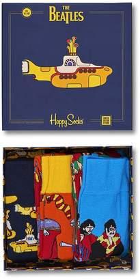 Pretty Green Beatles X Happy Socks 3 Pack Box Set