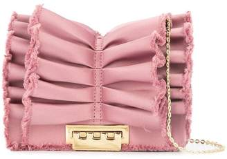 Zac Posen Earthette ruffle crossbody bag