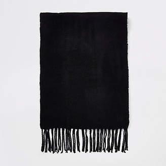 River Island Mens Black woven scarf