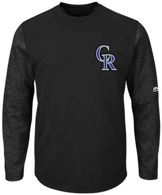 Majestic Men Colorado Rockies Ac On-Field Tech Fleece Pullover