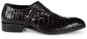 Jo Ghost Embossed Leather Monk Strap