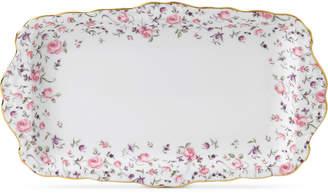 Royal Albert Rose Confetti Sandwich Tray