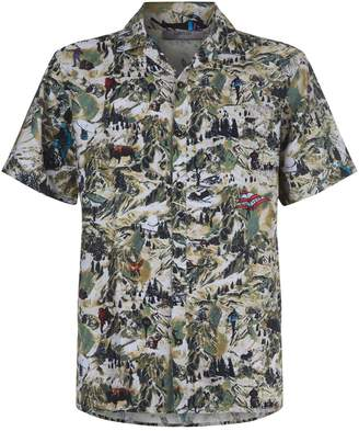 Lanvin Notched Collar Mountain Shirt