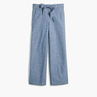 J.Crew Chambray tie-waist pant