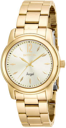 Invicta Angel Womens Gold-Tone Stainless Steel Watch 17420