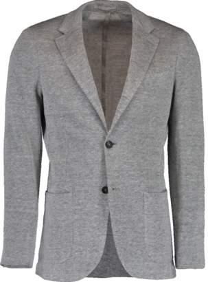Eleventy Pique Jersey Linen Jacket